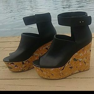 Funky H&M cork platforms with ankle closure